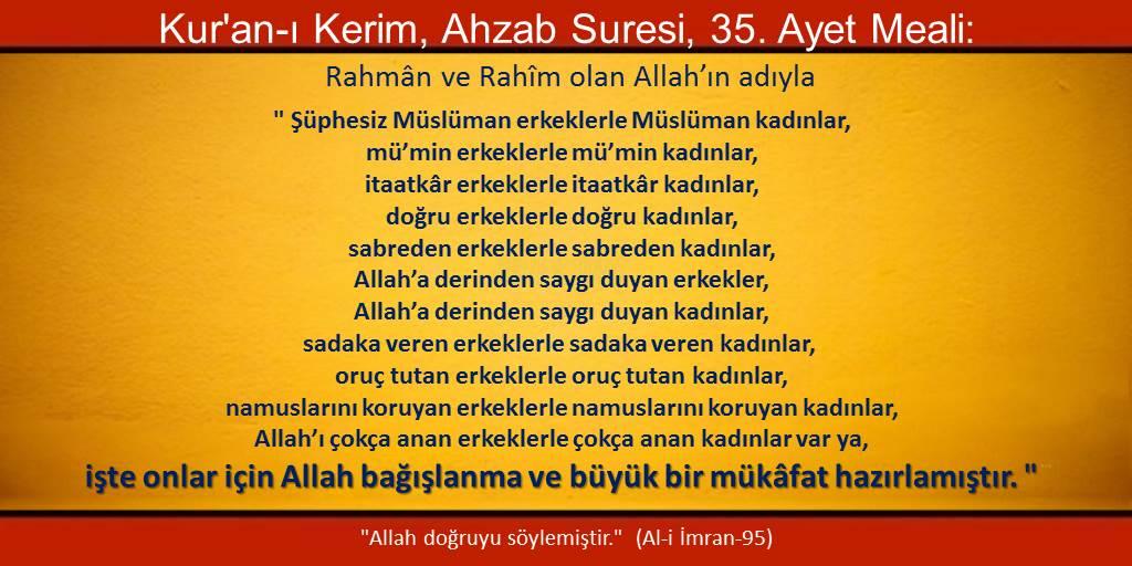Allah'ın büyük bağışlanma ve büyük mükafat hazırladığı erkekler ve kadınlar