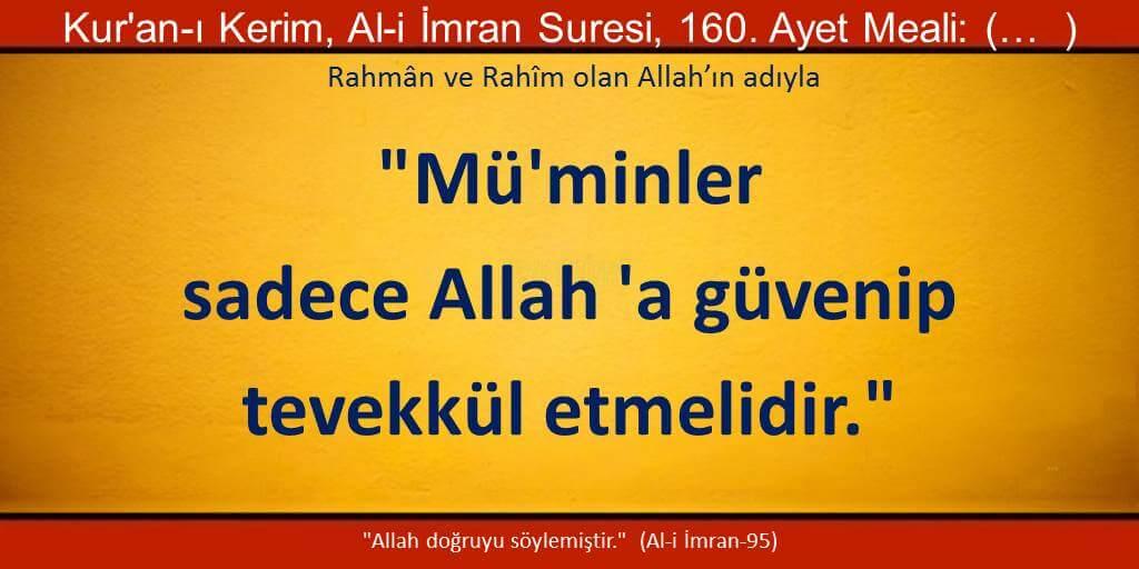 Sadece Allah'a güven ve tevekkül et